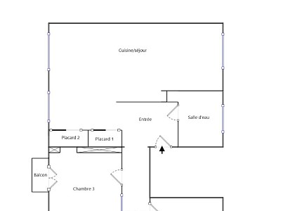 APPARTEMENT T4 A LOUER - L ARBRESLE - 89,08 m2 - 890 € charges comprises par mois