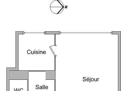 APPARTEMENT T1 A LOUER - LYON 3EME ARRONDISSEMENT - 27,88 m2 - 387 € charges comprises par mois