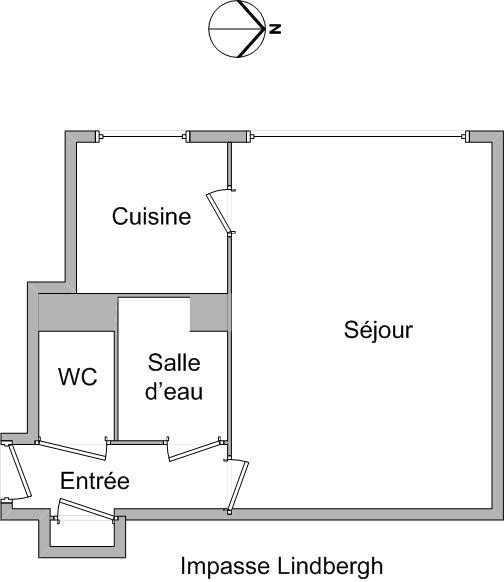 APPARTEMENT T1 - LYON 3EME ARRONDISSEMENT - 27,88 m2 - LOUÉ