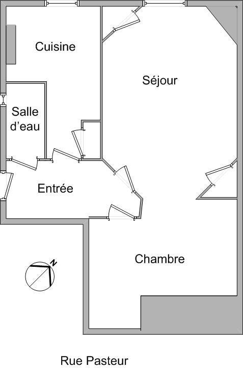 APPARTEMENT T1 - LYON 7EME ARRONDISSEMENT - 37,98 m2 - LOUÉ