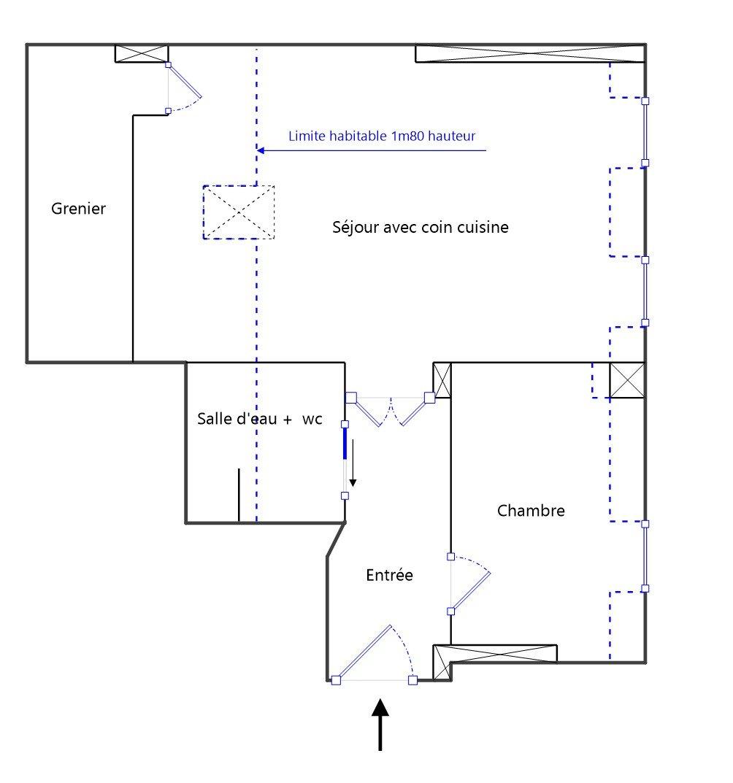 APPARTEMENT T2 - LYON 2EME ARRONDISSEMENT - 40,72 m2 - LOUÉ