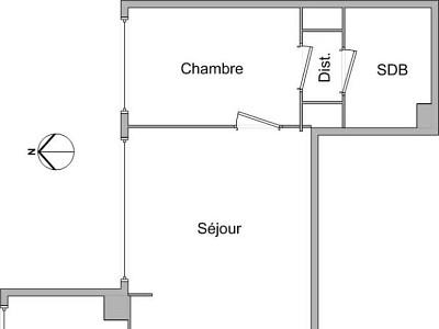 APPARTEMENT T2 A LOUER - LYON 3EME ARRONDISSEMENT - 45,84 m2 - 725 € charges comprises par mois