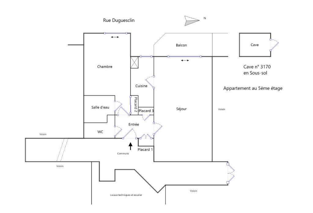 APPARTEMENT T2 A LOUER - LYON 6EME ARRONDISSEMENT - 51,37 m2 - 1750 € charges comprises par mois