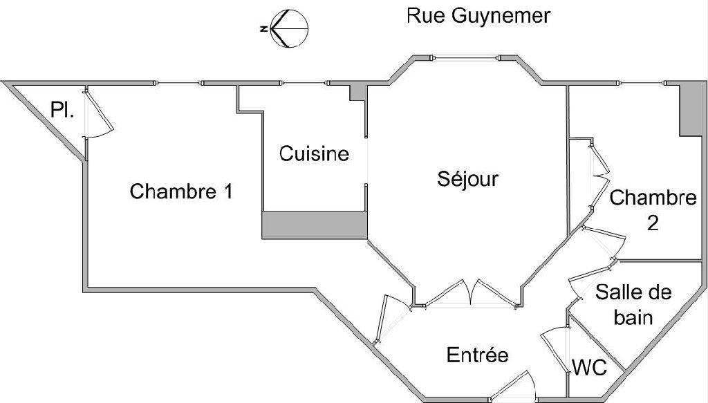 APPARTEMENT T3 A LOUER - LYON 2EME ARRONDISSEMENT SAXE - 59,98 m2 - 885 € charges comprises par mois