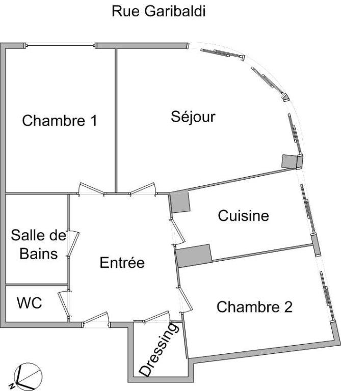 APPARTEMENT T3 A LOUER - LYON 3EME ARRONDISSEMENT - 71,6 m2 - 895 € charges comprises par mois