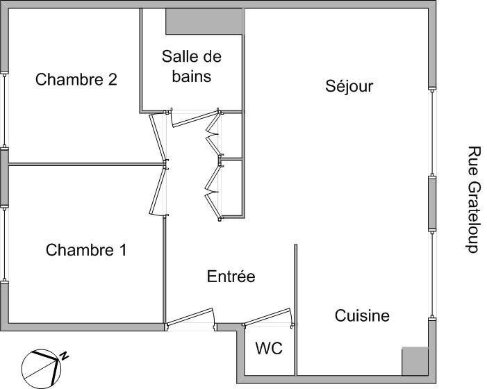 APPARTEMENT T3 A LOUER - LYON 4EME ARRONDISSEMENT CROIX ROUSSE - 54,42 m2 - 747 € charges comprises par mois