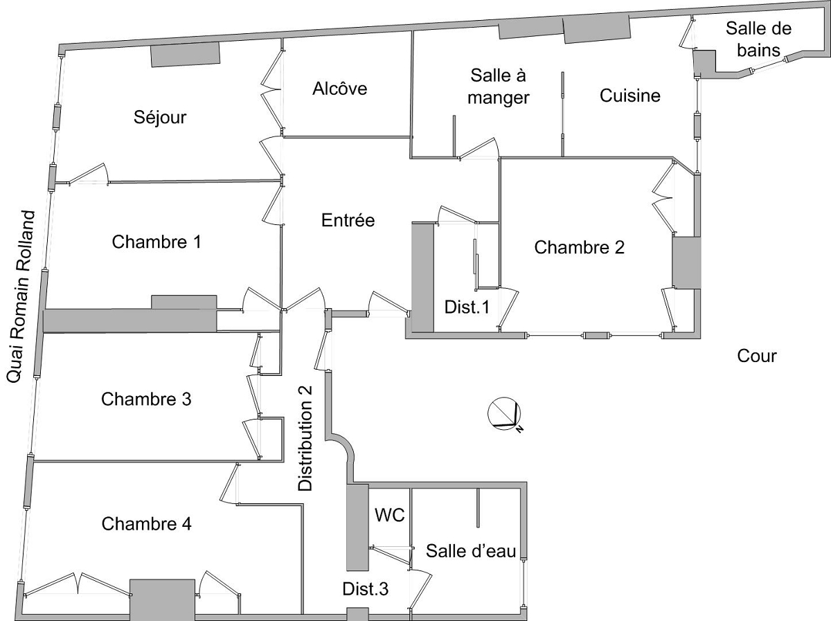 APPARTEMENT T5 - LYON 5EME ARRONDISSEMENT VIEUX LYON - 142,54 m2 - LOUÉ