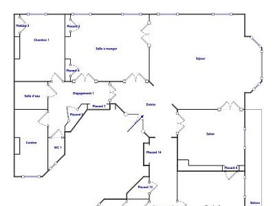APPARTEMENT T7 A LOUER - LYON 2EME ARRONDISSEMENT - 224,36 m2 - 2760 € charges comprises par mois